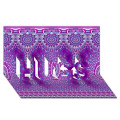 India Ornaments Mandala Pillar Blue Violet HUGS 3D Greeting Card (8x4)