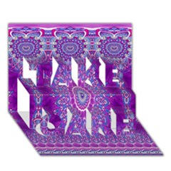 India Ornaments Mandala Pillar Blue Violet TAKE CARE 3D Greeting Card (7x5)