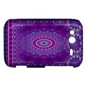 India Ornaments Mandala Pillar Blue Violet HTC Wildfire S A510e Hardshell Case View1