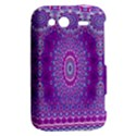 India Ornaments Mandala Pillar Blue Violet HTC Wildfire S A510e Hardshell Case View2