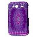 India Ornaments Mandala Pillar Blue Violet HTC Wildfire S A510e Hardshell Case View3