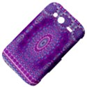 India Ornaments Mandala Pillar Blue Violet HTC Wildfire S A510e Hardshell Case View4