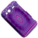 India Ornaments Mandala Pillar Blue Violet HTC Wildfire S A510e Hardshell Case View5