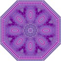 India Ornaments Mandala Pillar Blue Violet Hook Handle Umbrellas (Small) View1