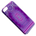 India Ornaments Mandala Pillar Blue Violet Apple iPhone 5 Classic Hardshell Case View5