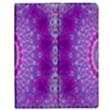 India Ornaments Mandala Pillar Blue Violet Apple iPad 2 Flip Case View1