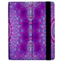 India Ornaments Mandala Pillar Blue Violet Apple iPad 2 Flip Case View2