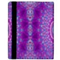 India Ornaments Mandala Pillar Blue Violet Apple iPad 2 Flip Case View3