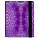 India Ornaments Mandala Pillar Blue Violet Apple iPad Mini Flip Case View2
