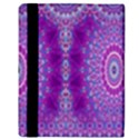 India Ornaments Mandala Pillar Blue Violet Apple iPad Mini Flip Case View3