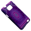 India Ornaments Mandala Pillar Blue Violet Samsung Galaxy S II i9100 Hardshell Case (PC+Silicone) View5