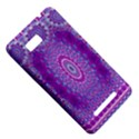 India Ornaments Mandala Pillar Blue Violet HTC One SU T528W Hardshell Case View5