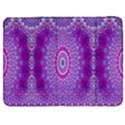 India Ornaments Mandala Pillar Blue Violet Samsung Galaxy Tab 7  P1000 Flip Case View1