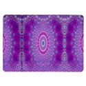 India Ornaments Mandala Pillar Blue Violet Samsung Galaxy Tab 10.1  P7500 Flip Case View1