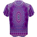 India Ornaments Mandala Pillar Blue Violet Men s Cotton Tee View2
