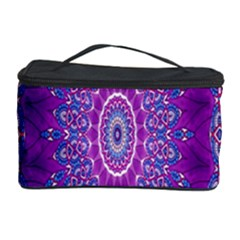 India Ornaments Mandala Pillar Blue Violet Cosmetic Storage Case