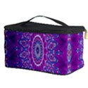 India Ornaments Mandala Pillar Blue Violet Cosmetic Storage Case View3