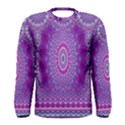 India Ornaments Mandala Pillar Blue Violet Men s Long Sleeve Tee View1