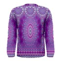 India Ornaments Mandala Pillar Blue Violet Men s Long Sleeve Tee View2