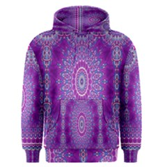 India Ornaments Mandala Pillar Blue Violet Men s Pullover Hoodie