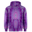 India Ornaments Mandala Pillar Blue Violet Men s Pullover Hoodie View1