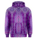 India Ornaments Mandala Pillar Blue Violet Men s Zipper Hoodie View1