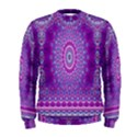 India Ornaments Mandala Pillar Blue Violet Men s Sweatshirt View1