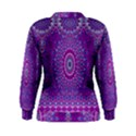 India Ornaments Mandala Pillar Blue Violet Women s Sweatshirt View2
