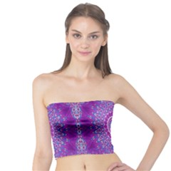 India Ornaments Mandala Pillar Blue Violet Tube Top