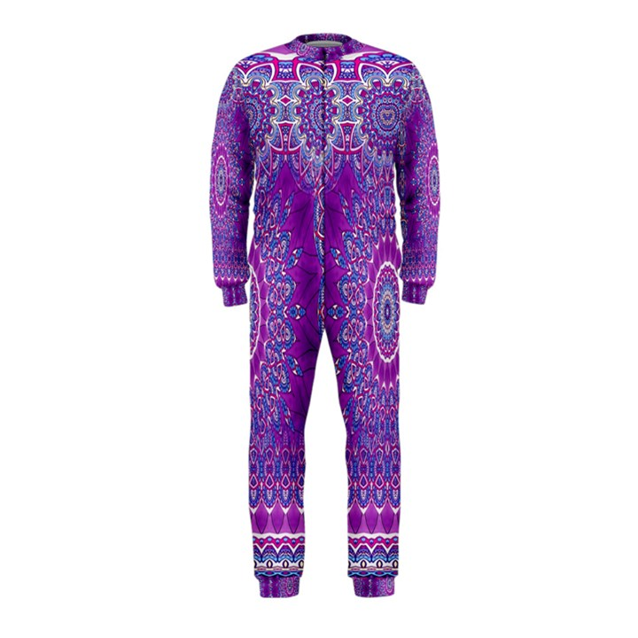 India Ornaments Mandala Pillar Blue Violet OnePiece Jumpsuit (Kids)