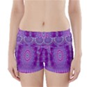 India Ornaments Mandala Pillar Blue Violet Boyleg Bikini Wrap Bottoms View1