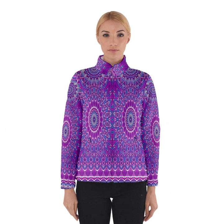 India Ornaments Mandala Pillar Blue Violet Winterwear