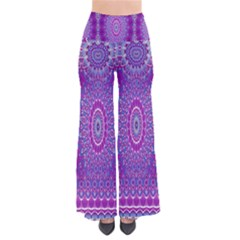 India Ornaments Mandala Pillar Blue Violet Pants