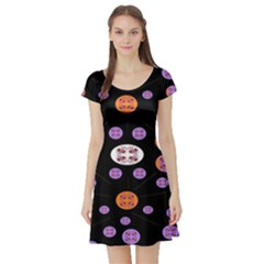 Alphabet Shirtjhjervbret (2)fvgbgnhlluuii Short Sleeve Skater Dress