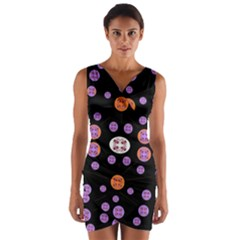Alphabet Shirtjhjervbret (2)fvgbgnhlluuii Wrap Front Bodycon Dress