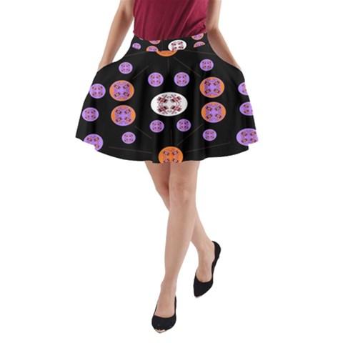 Alphabet Shirtjhjervbret (2)fvgbgnhlluuii A-Line Pocket Skirt