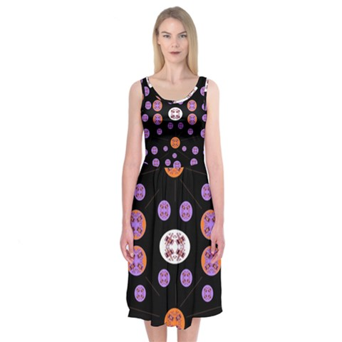 Alphabet Shirtjhjervbret (2)fvgbgnhlluuii Midi Sleeveless Dress