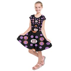 Alphabet Shirtjhjervbret (2)fvgbgnhlluuii Kids  Short Sleeve Dress