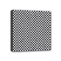 Sports Racing Chess Squares Black White Mini Canvas 4  x 4  View1