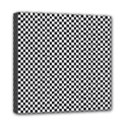 Sports Racing Chess Squares Black White Mini Canvas 8  x 8  View1