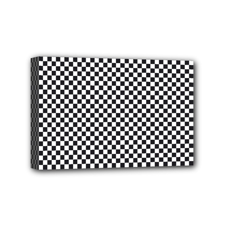 Sports Racing Chess Squares Black White Mini Canvas 6  x 4