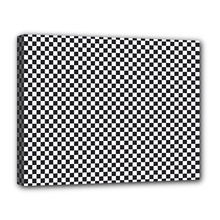 Sports Racing Chess Squares Black White Canvas 14  x 11