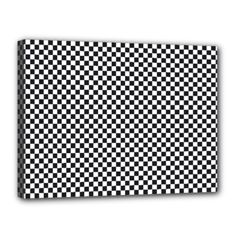 Sports Racing Chess Squares Black White Canvas 16  x 12