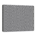 Sports Racing Chess Squares Black White Canvas 20  x 16  View1