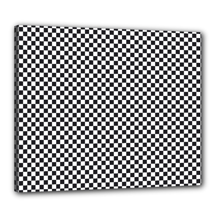 Sports Racing Chess Squares Black White Canvas 24  x 20