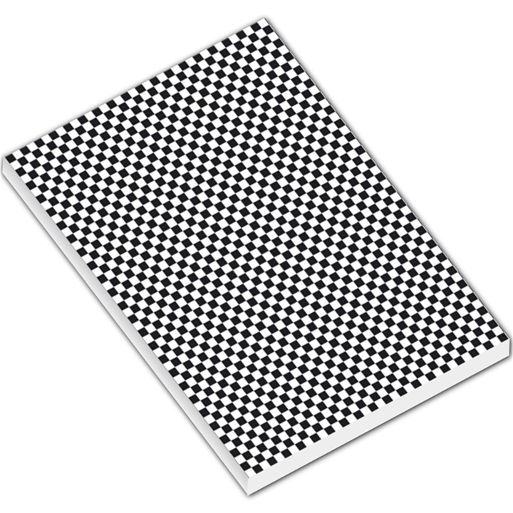 Sports Racing Chess Squares Black White Large Memo Pads