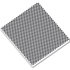 Sports Racing Chess Squares Black White Small Memo Pads