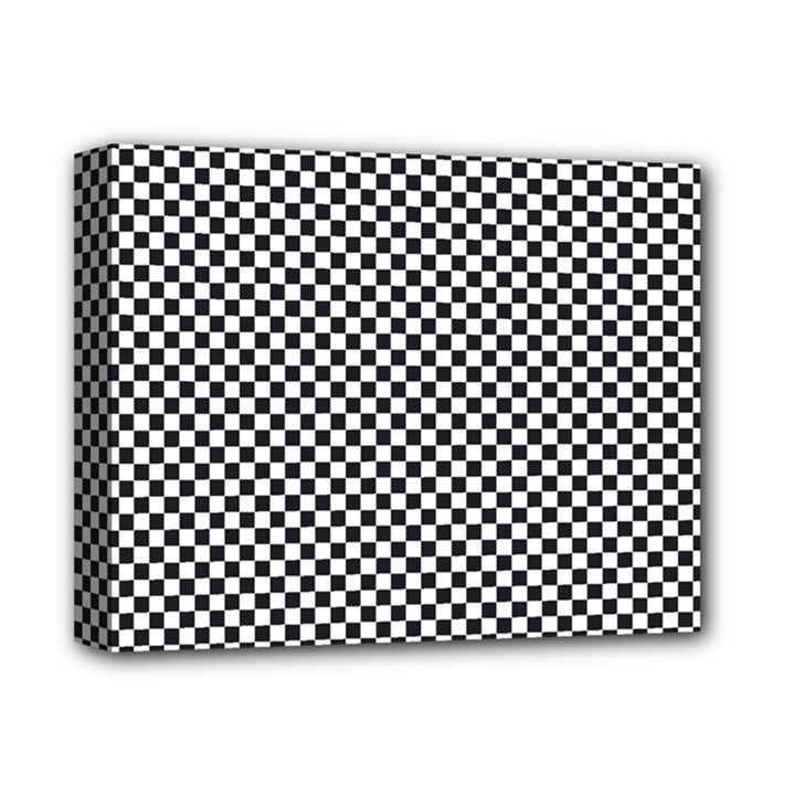 Sports Racing Chess Squares Black White Deluxe Canvas 14  x 11