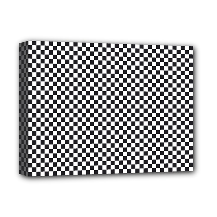 Sports Racing Chess Squares Black White Deluxe Canvas 16  x 12