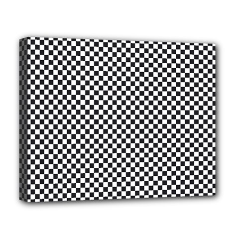 Sports Racing Chess Squares Black White Deluxe Canvas 20  x 16